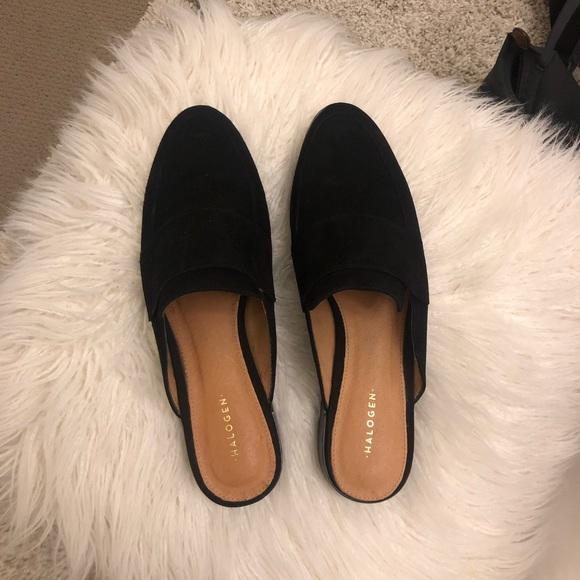 3ebf2adc7a7a Halogen Shoes | Violet Black Suede Mule | Poshmark